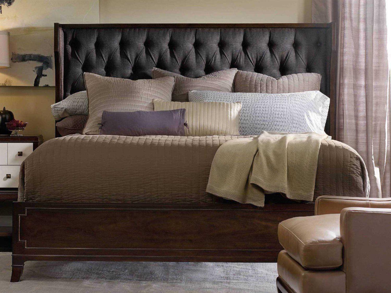 hooker furniture palisade dark wood king size shelter panel bed in rh pinterest com