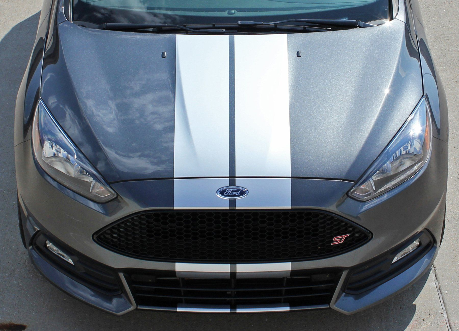 2016 2018 Ford Focus Target Rally Racing Stripes Vinyl Graphic Hood 3m Decals Kit Racing Stripes Ford Focus Mustang Stripes