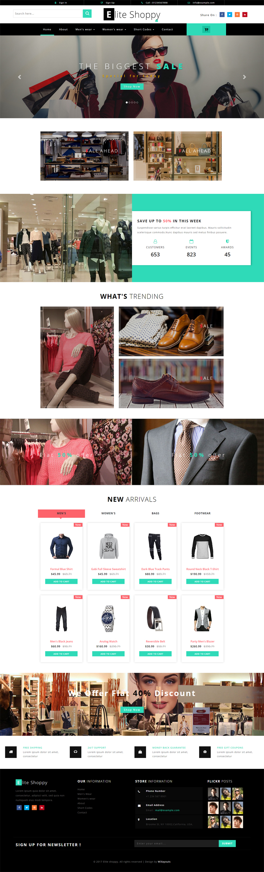 Elite Shoppy Ecommerce Bootstrap Responsive Web Template | Free ...