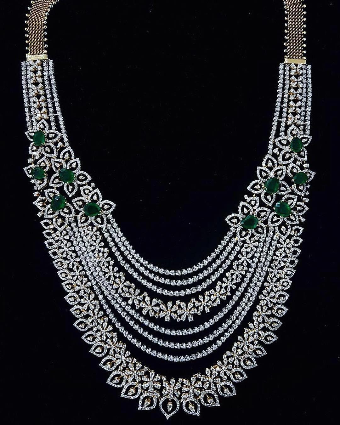 Heavy diamond necklace set designs diamondjewellerycollection
