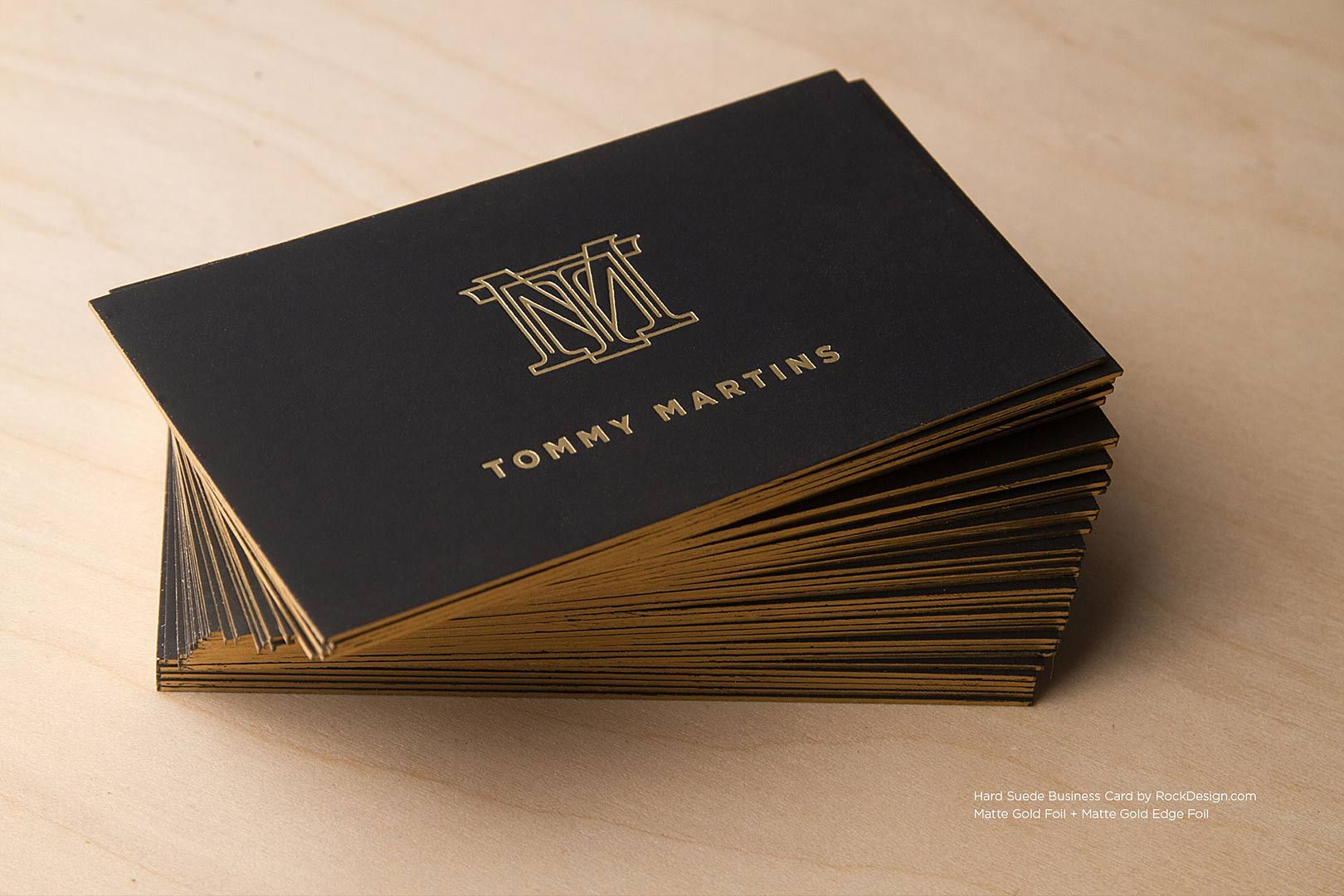 Hard Suede Business Cards RockDesign Luxury Business