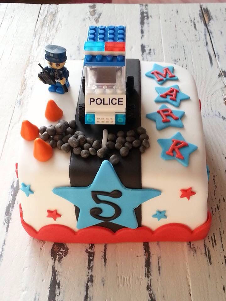 Politie Taart Police Cake Polizei Geburtstag Geburtstagskuchen