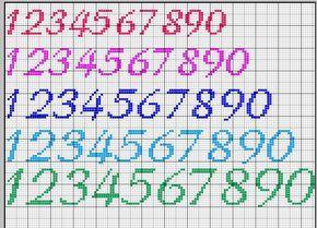 Numeri Punto Croce Schemi Cerca Con Google Punto Croce Fiocco