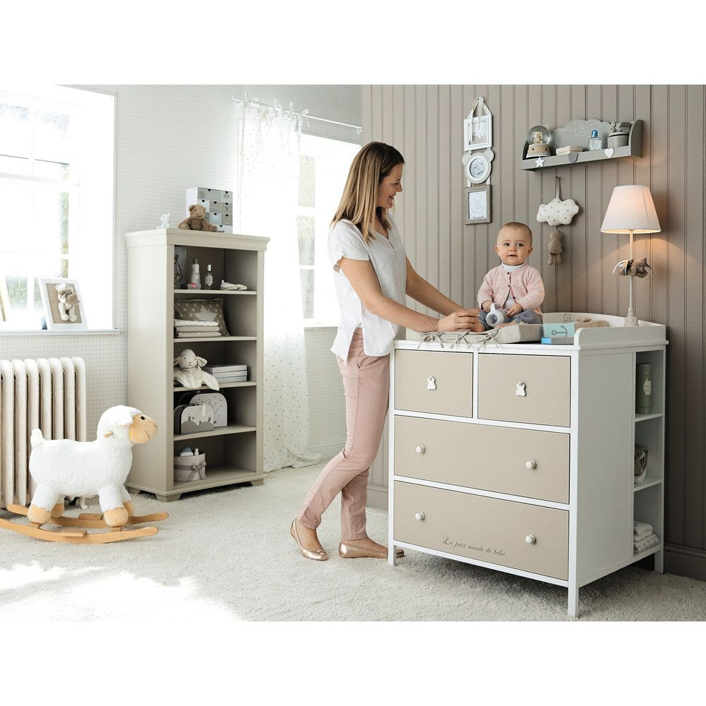 commode langer blanche et taupe my 1st grandchild. Black Bedroom Furniture Sets. Home Design Ideas