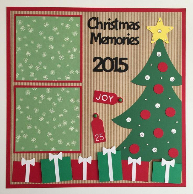 Handmade Premade 12x12 Christmas Memories Scrapbook Page Layout
