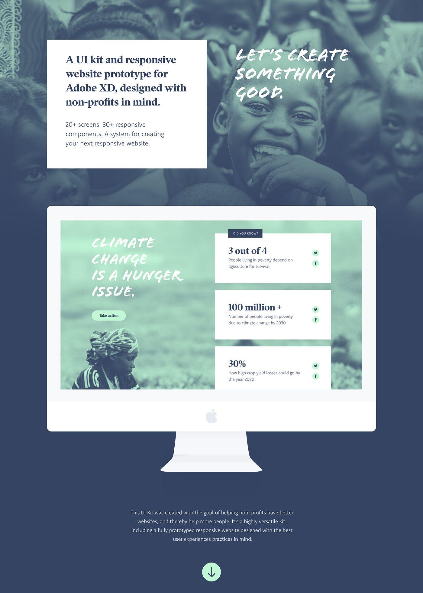 non profit ui kit on behance design elements ui kit web design rh pinterest com