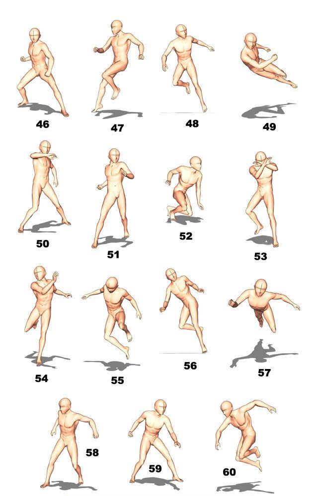 Karmaalma Dynamic Poses Drawing Reference Poses Running Pose