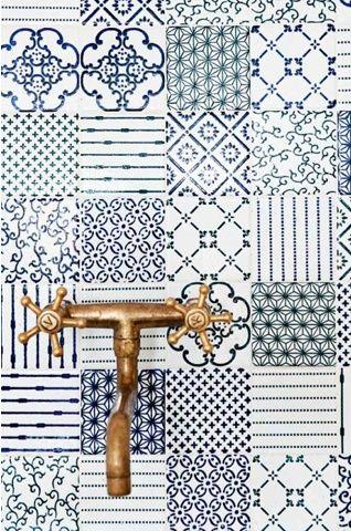 Portugiesische Fliesen Zementfliesen Bathrooms Pinterest - Portugiesische fliesen bilder