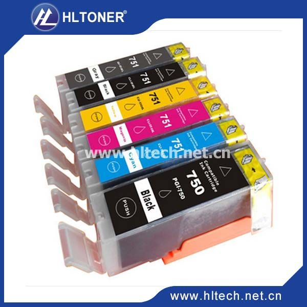 6pcs Compatible Ink Cartridge Canon Pgi 750 Cli 751 Pgi 750xl Cli