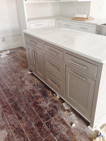 sherwin williams dovetail gray kitchen island craftsman home rh pinterest co uk