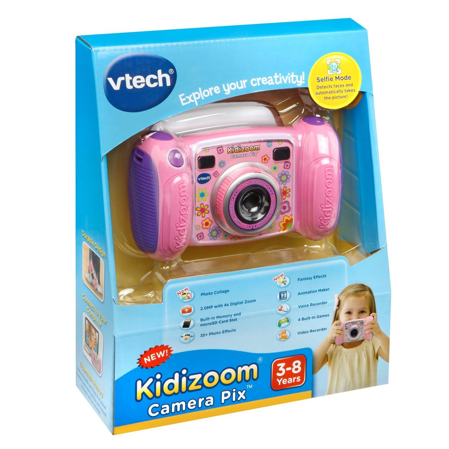 Vtech Kidizoom Camera Pix Pink More Info Could Be Found At The Image Url Note Amazon Affiliate Link Toys Vtech Kids Camera Camera