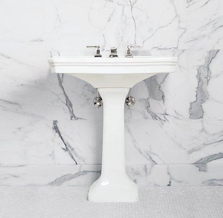 Park Pedestal Sink Single Vanities Washstands Restoration Hardware Pedestal Sink Sink Pedastal Sink