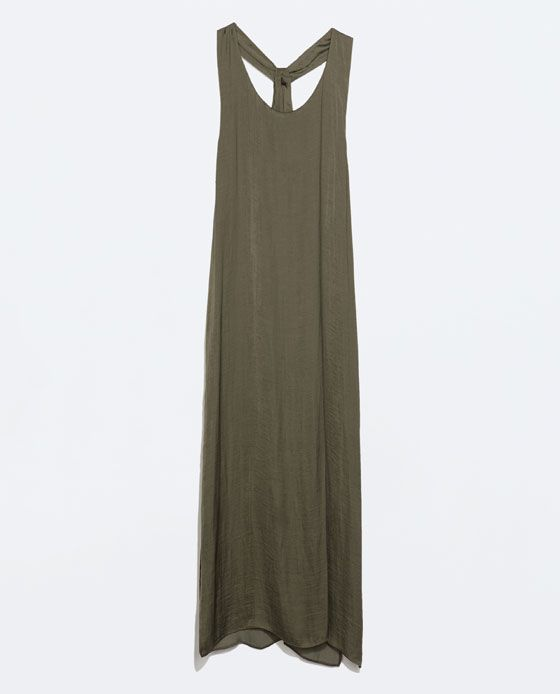 Image 6 of DRESS WITH KNOT AT THE BACK from Zara