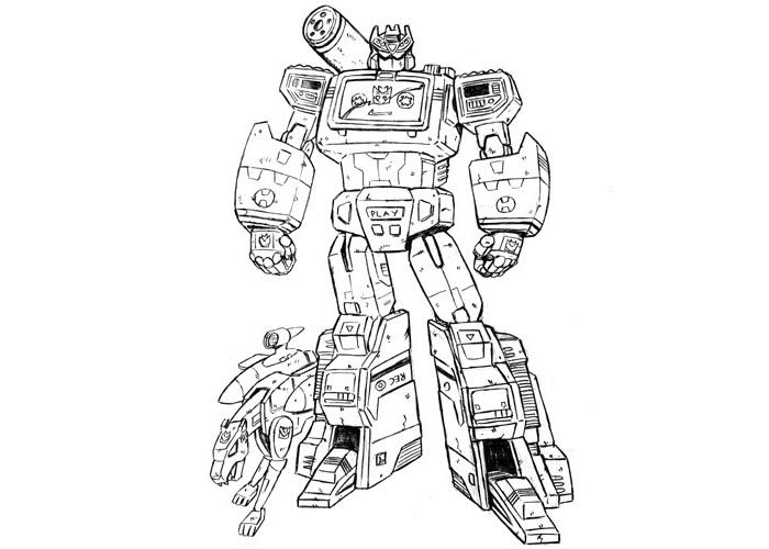 Soundwave Bw Jpg 700 500 Transformers Coloring Pages Dinosaur Coloring Pages Coloring Pages