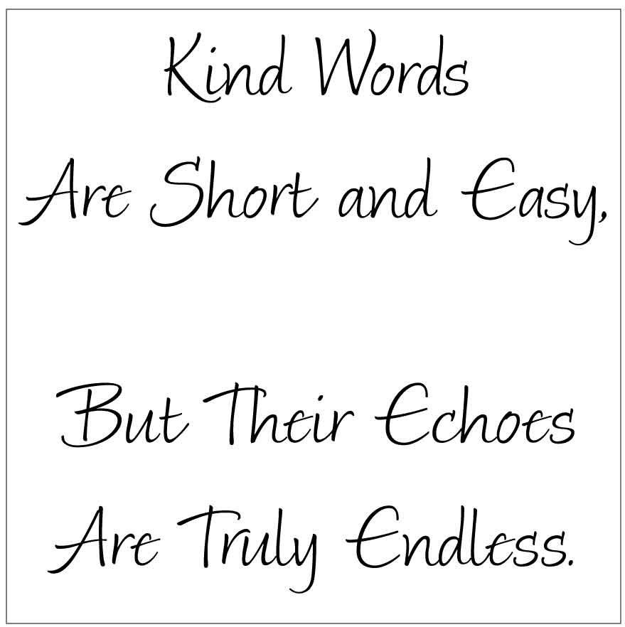 Kind Words are short and easy, but their echoes are truly endless. 10 MIL laser-cut stencil by PearlDesignStudio on Etsy