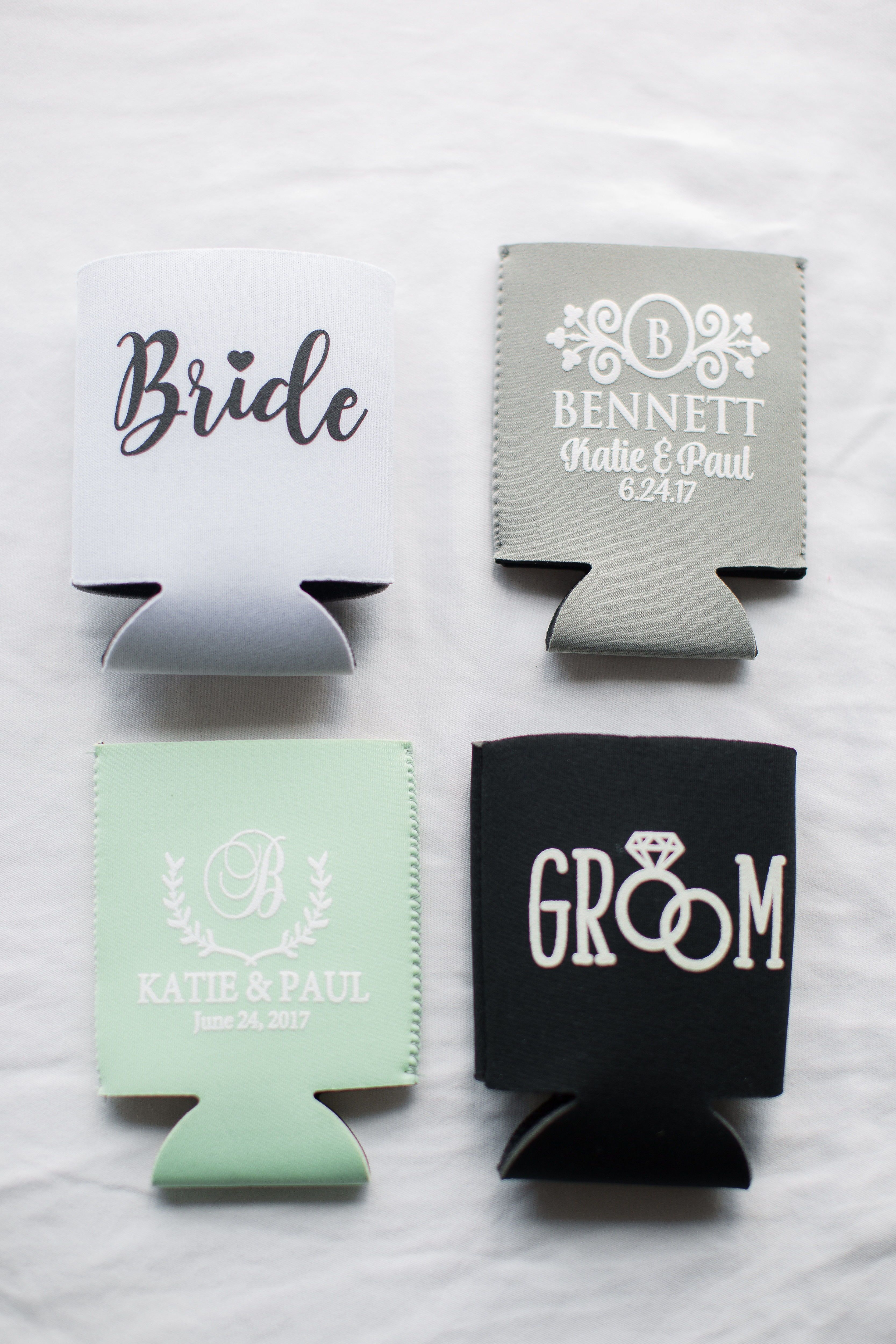 Exelent Koozies For Wedding Favors Ornament - The Wedding Ideas ...