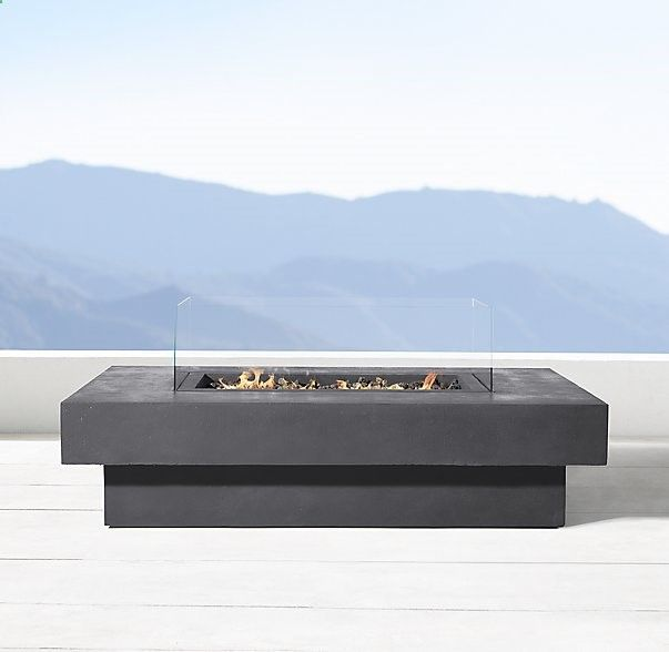 Makena Natural Gas Rectangular Fire Table