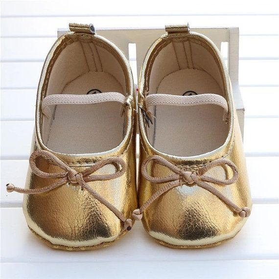 Hey, I found this really awesome Etsy listing at https://www.etsy.com/listing/294924477/gold-ballet-shoe-infanttoddler-sizes