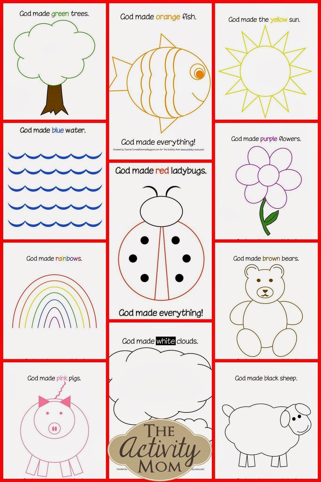 Free Printable Bible Activities For Kindergarten