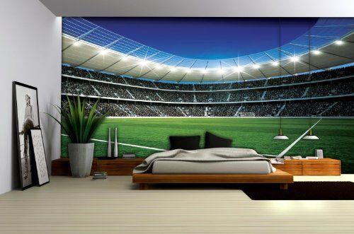 Football Stadium 3 Wallpaper Mural Consalnet Http Www Amazon Com Dp B00fw14ae4 Ref Cm Sw R Pi Dp Yr1jwb0ppccmw Soccer Room Football Bedroom Sport Bedroom