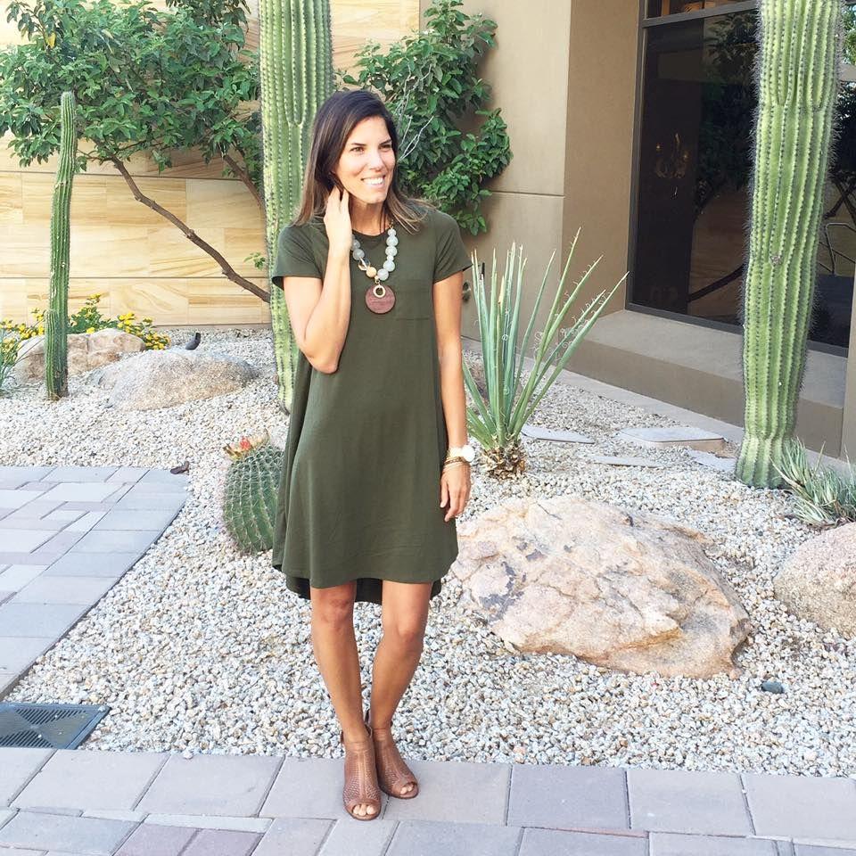 0aa43d8afb LuLaRoe Carly dress in olive green