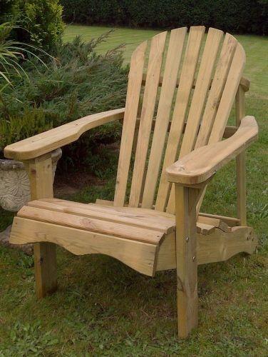 swedish redwood adirondack relaxing garden chair deck garden rh pinterest co uk