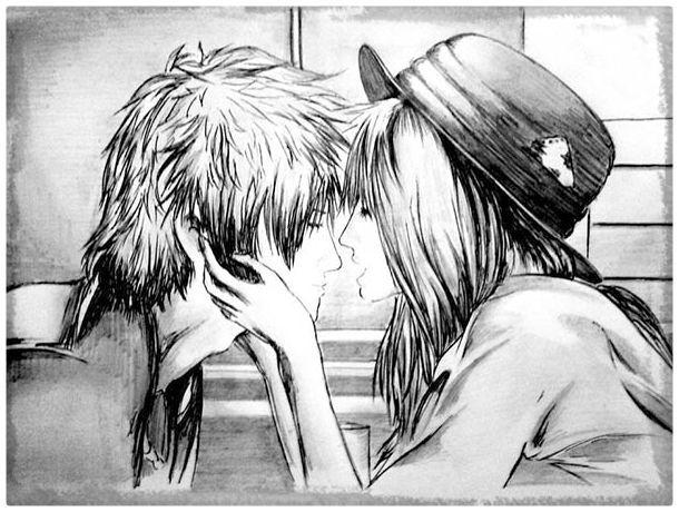Dibujos de Anime de Amor Parejas  Imagenes de Anime de Amor