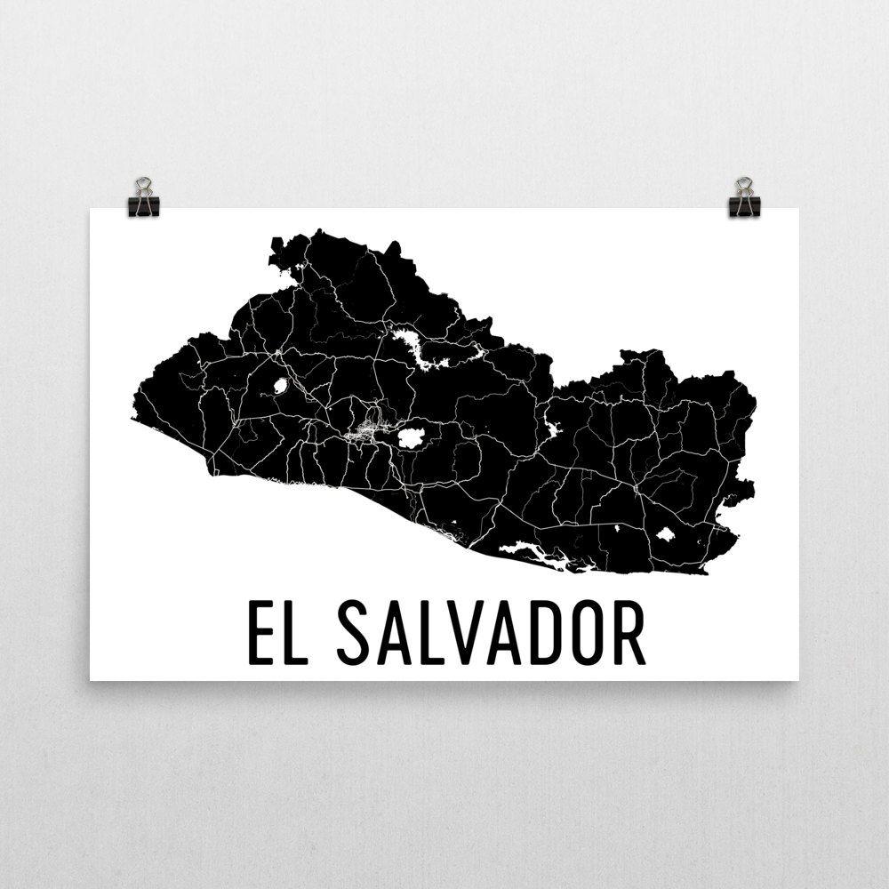Looking for quality El Salvador map art