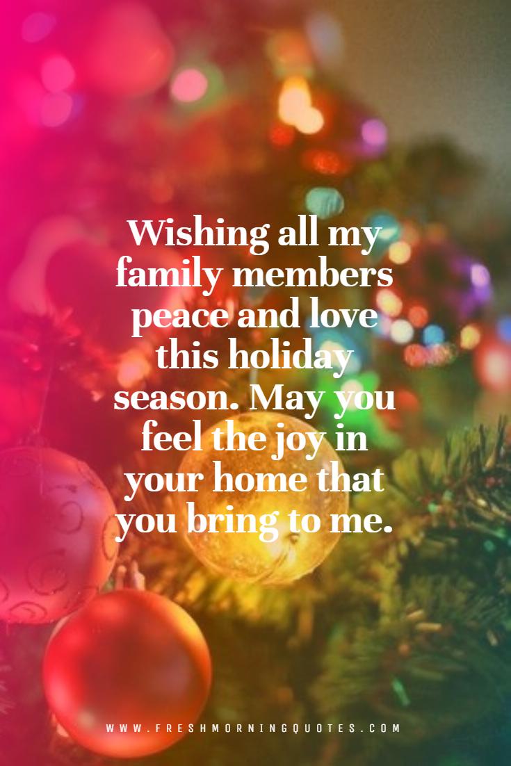 Wishing All My Family Members Merry Christmas Merry Christmas Wishes Merry Christmas Wishes Messages Merry