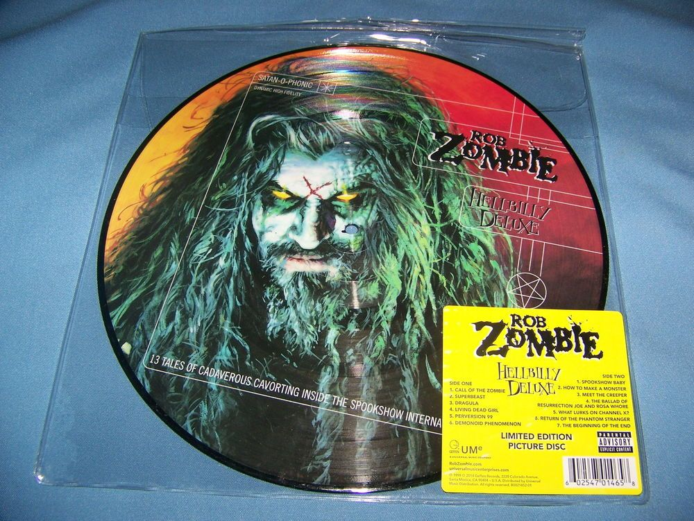 Rob Zombie Hellbilly Deluxe Picture Disc Vinyl Lp Limited Edition New Pa Rob Zombie Vinyl Zombie