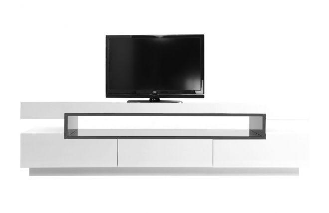 meuble tv miliboo promo meuble tv design pas cher achat meuble tv design laqu blanc livo prix promo miliboo ttc au lieu de 499 pratique et moderne - Meuble Tv Blanc Moderne