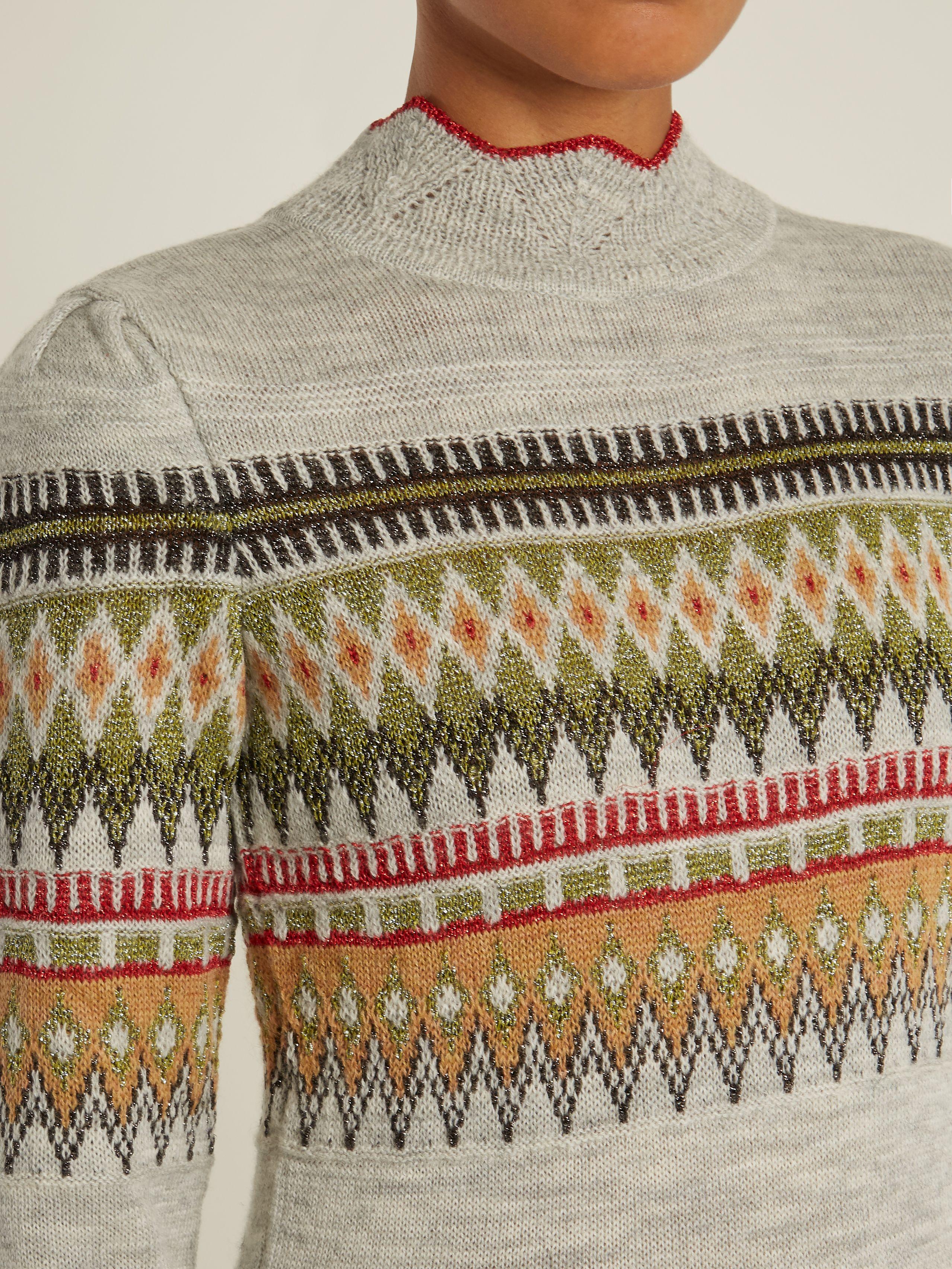 9ea6805cab1 Click here to buy Isabel Marant Étoile Blake Fair-Isle knit sweater ...