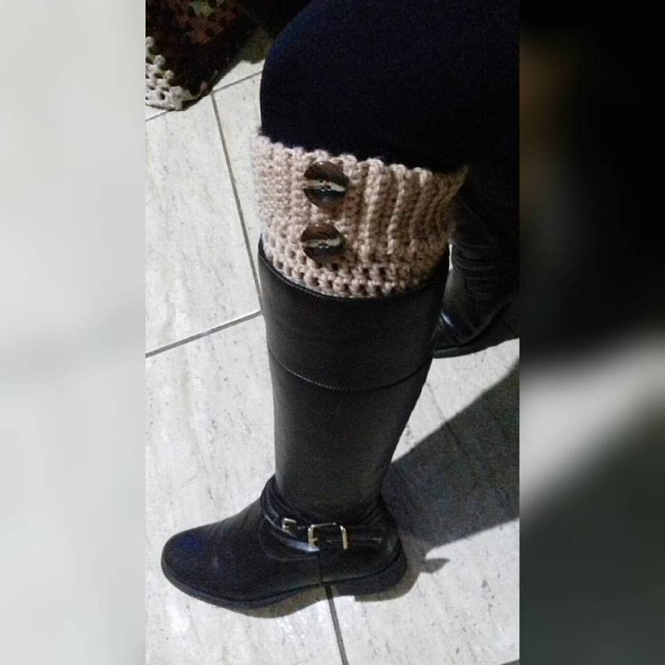 Boot Cuff - Polaina para Botas / Glaucia Tamiossi | Crochê Vídeos ...