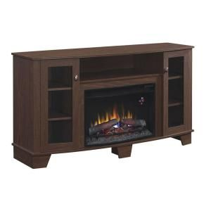 hampton bay grand haven 59 in media console electric fireplace in rh pinterest com