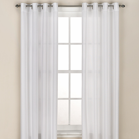 Regal Home Collections Avery Grommet Window Curtain Panel Bed Bath And Beyond 22 49 Curtains Window Curtains