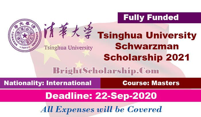 Tsinghua University Schwarzman Scholarship 2021 in China ...