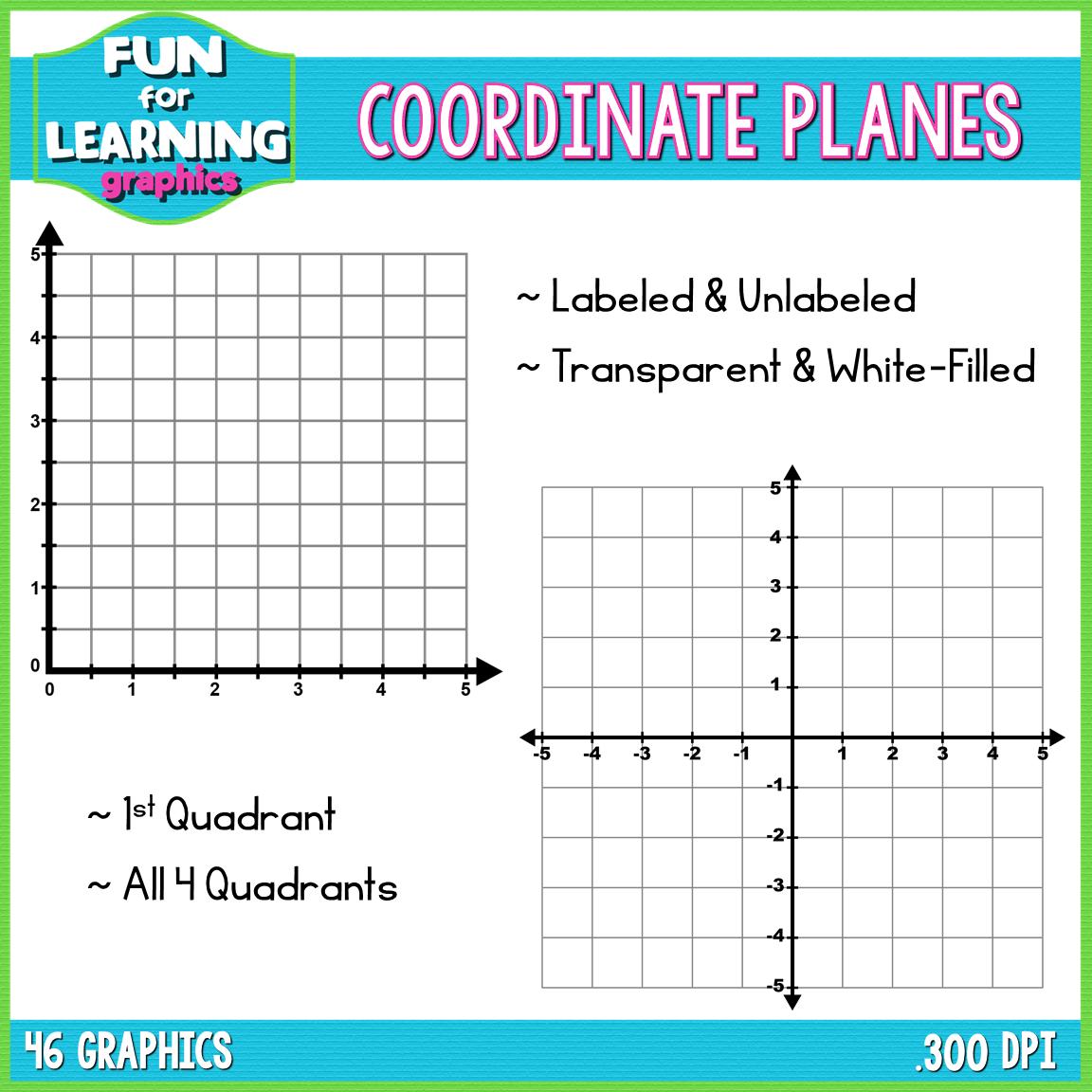 Coordinate Planes Grids Clipart