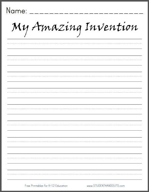 My amazing invention writing prompt daily 5 work on for Writing templates for 3rd grade