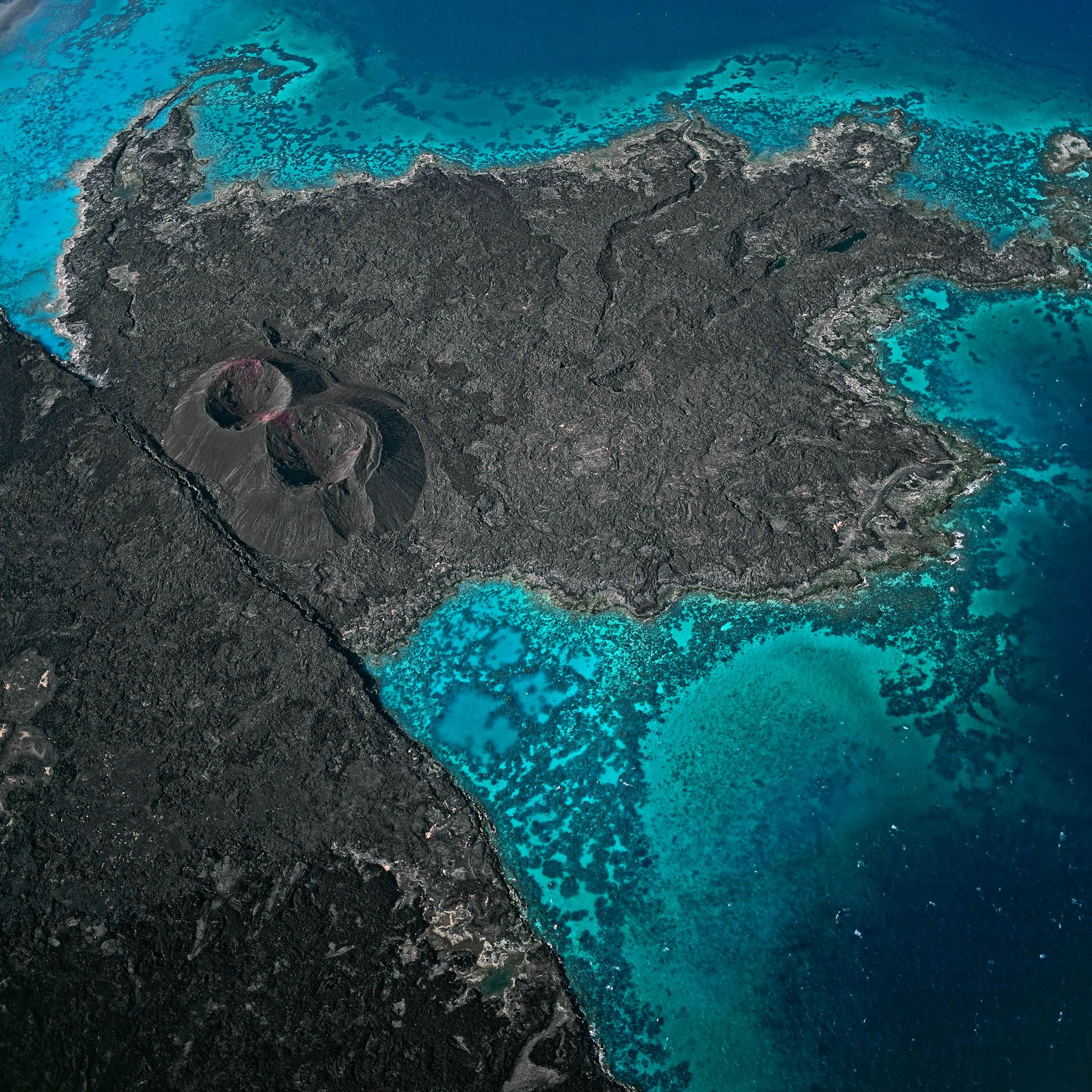 Africa Map Horn Of Africa%0A Picture of volcanos from above  Ghoubbet Kharab cove  Djibouti  Africa  The  Bay