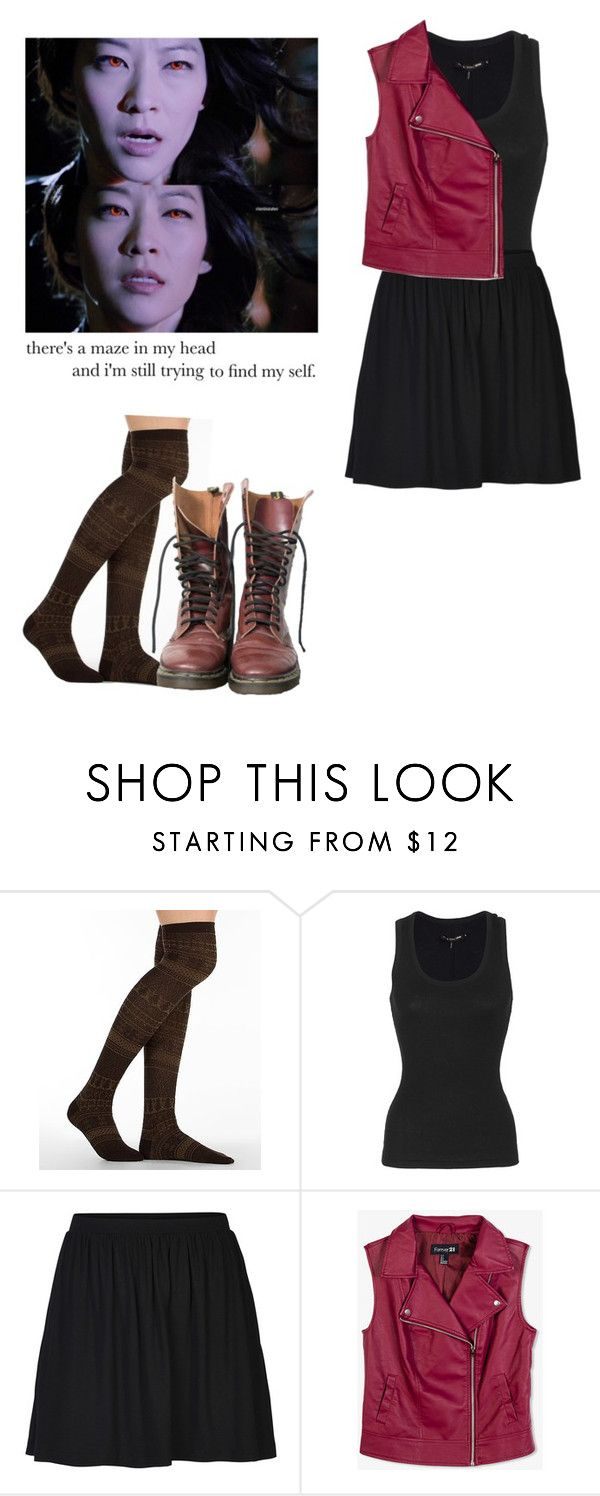 """Kira Yukimura - tw / teen wolf"" by shadyannon ❤ liked on Polyvore featuring Muk Luks, rag & bone, ONLY, Forever 21 and Dr. Martens"