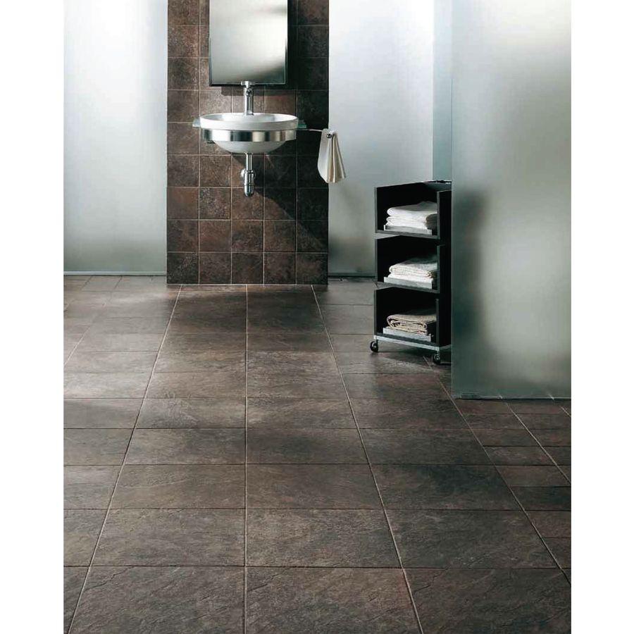 Shop FLOORS 2000 Riverstone 6-Pack Fuerte Black Porcelain Floor ...