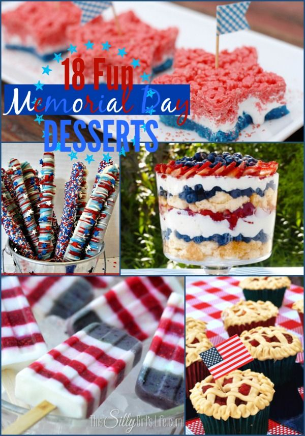 18 Fun Memorial Day Desserts The Weekly Round Up With Images