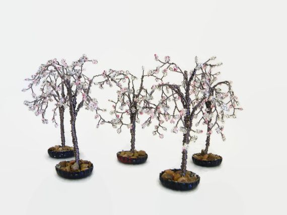 Fairy Garden Accessory Tree Cherry Blossom 35 to 4 Inches
