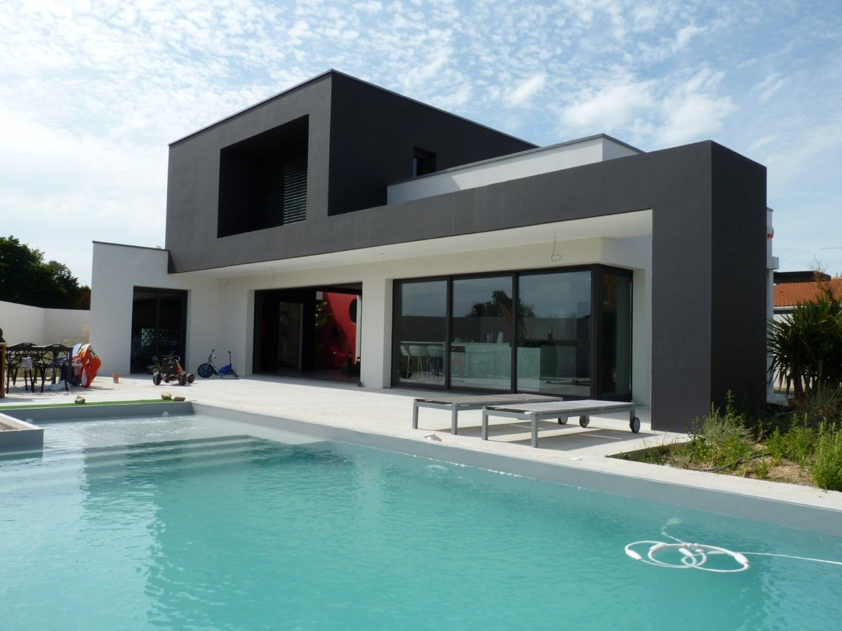 maison contemporaine dompierre s mer 1 julien taub architecture pinterest. Black Bedroom Furniture Sets. Home Design Ideas