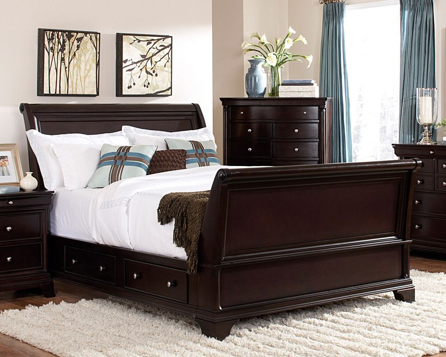 king sleigh bed 1402sl kb skara furniture factory direct bedroom rh pinterest com