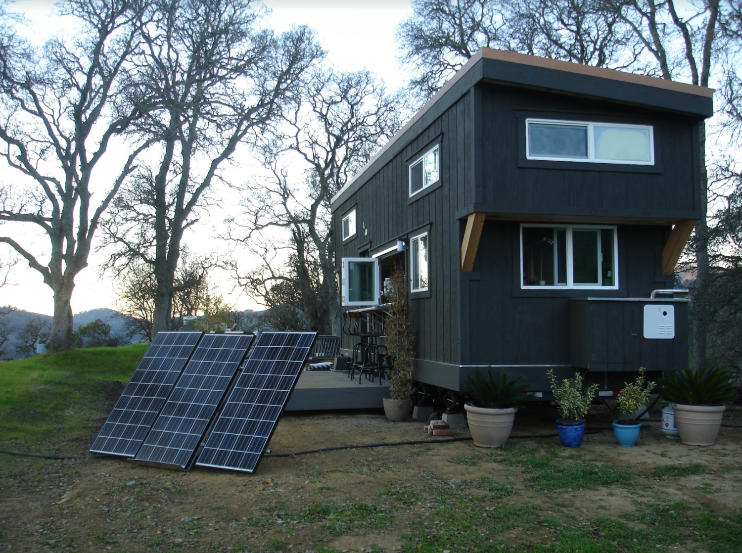 solar powered tiny house. Save Energy And Maximize The Brightness In Your Tiny House With Solar Panels! Powered