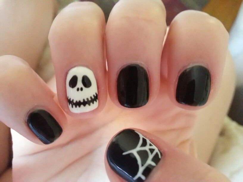 Jack skellington nails | Disneyland nails, Halloween nails ...