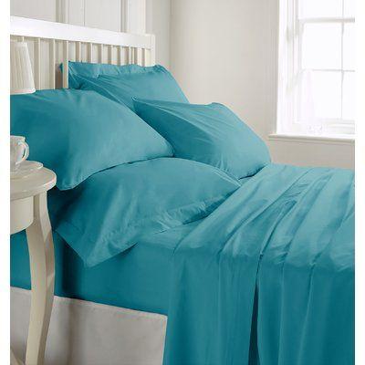 """Egyptian Cotton 800 TC Light Blue Stripe Sheet Set//Duvet//Fitted//Pillow 15/"""" Drop"""