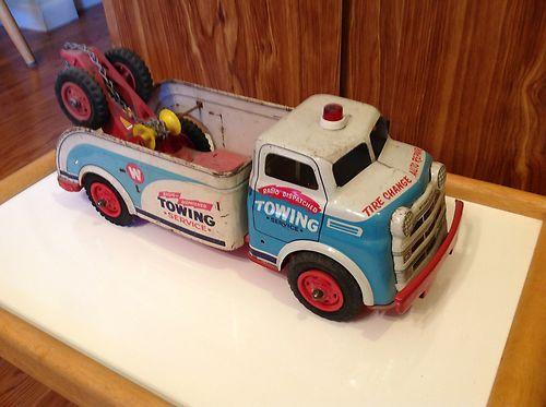 Vintage Wyandotte 50s Wrecker Steel Toy Truck Estate Tow Truck   eBay