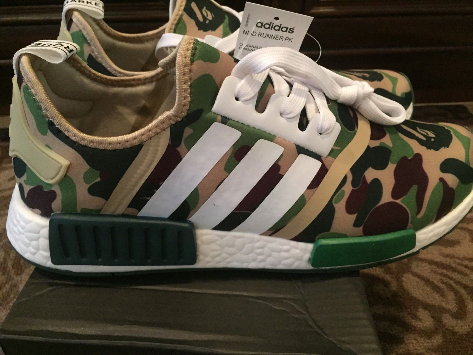 Details about NEW IN THE BOX ADIDAS NMD_R1 D96617 GREEN ARMY
